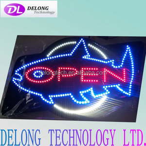 76X46X2.5cm fish design aquarium led acrylic hanging sign board