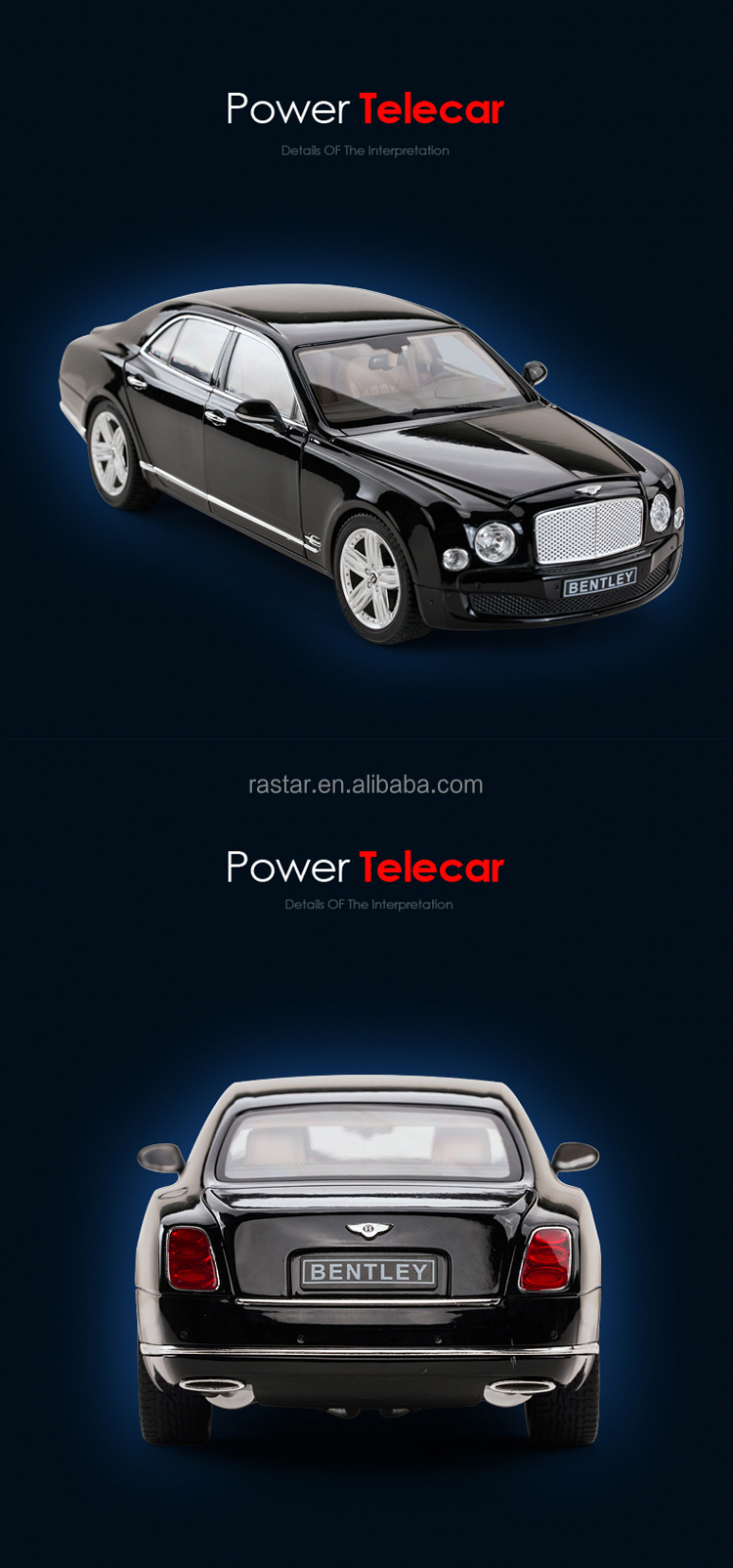 Rastar Diecast 1:18 car model vehicle from China manufacturer