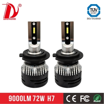 New arrival new products auto led headlight h7 V5 mini led headlight from China