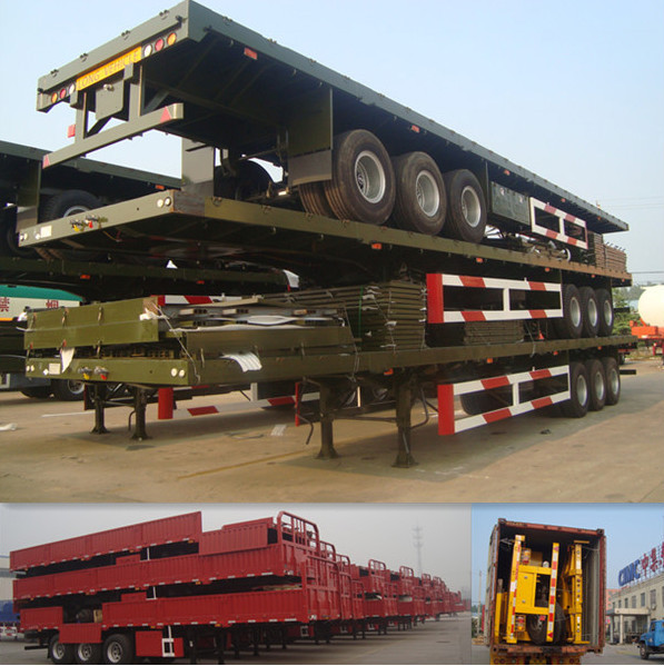 cimc tri axle cargo transporter trailer with jost landing