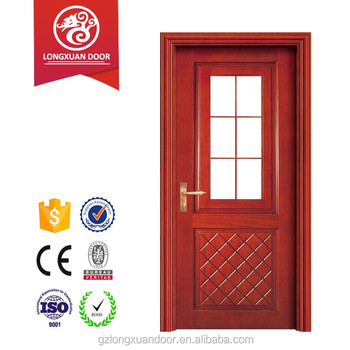 Inner House Main Gate Designs Wooden Panel With Glasses Vision Partition  Kitchen Room Door