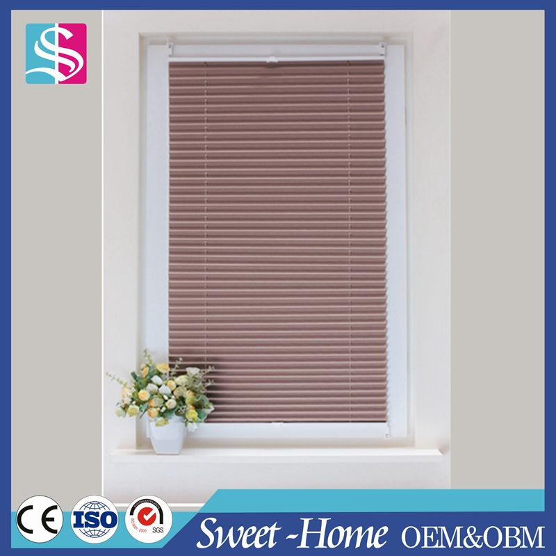 easy handle room darkening tensioned cellular pleated shades suitable for home decoration