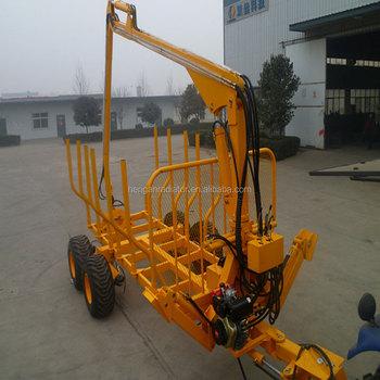 Außergewöhnlich Ce 5 Tonnen Holzlader Anhänger Mit Kran Für Traktor / Atv - Buy #WX_27