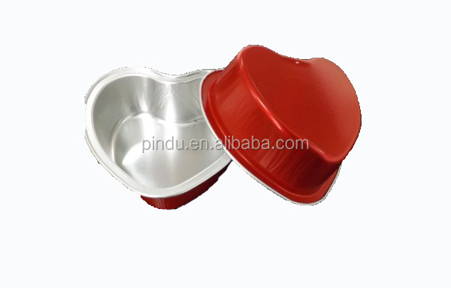heart-shape disposable aluminium foil container
