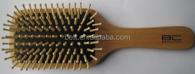 personalized healthy custom wooden hair brush