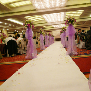 Disposable white aisle runner wedding decorations carpet