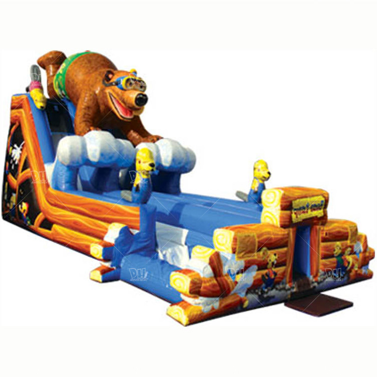 5% off sole agent price pvc bear park inflatable jumping slide