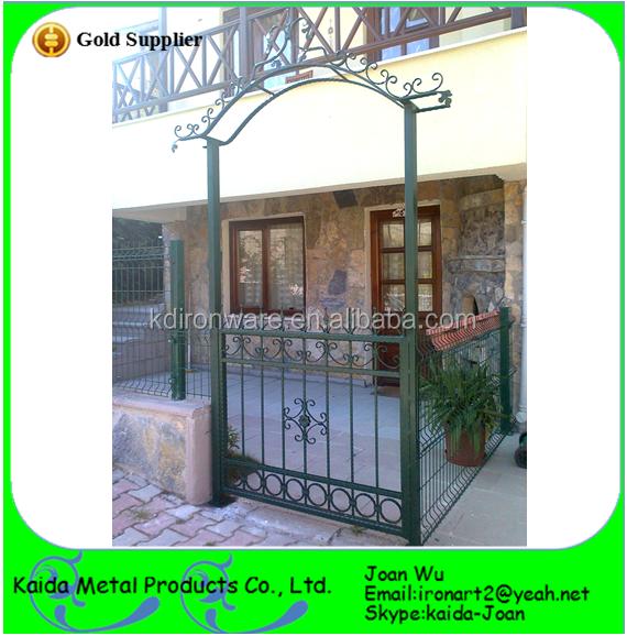 Italiaanse stijl smeedijzeren boog poort ontwerp hekwerk trellis en poorten product id - Leuningen smeedijzeren patio ...