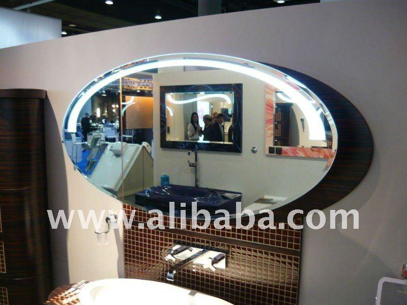 R tro clair et lumineux led miroir de salle de bains - Miroir retro eclaire ...