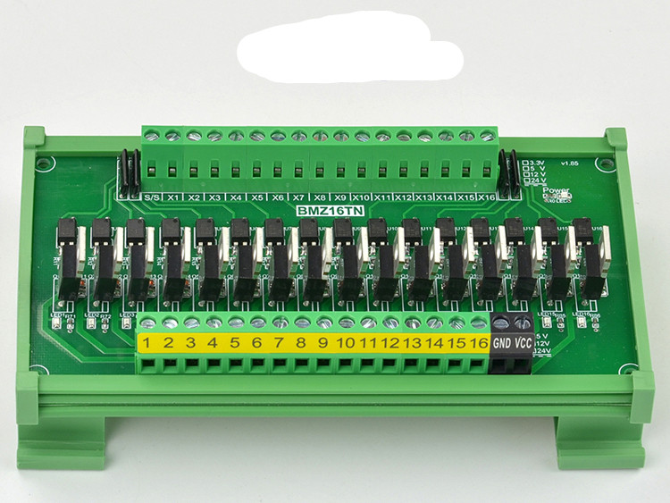 4/8/12/16 channel Single Chip Microcomputer PLC Signal Amplifier Board Input and Output NPN/PNP Photocoupler Isolation 5v12v24v