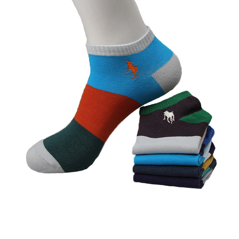2015 New Men Summer Socks Basketball Color Wide Strip Embroidery Winter Socks For Men Dress Socks High Quality 5 pairs