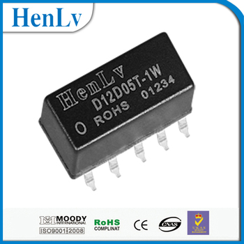 DC/DC power buck converter 12VDC to +/-5VDC D12D05T-1W SMD Unregulated