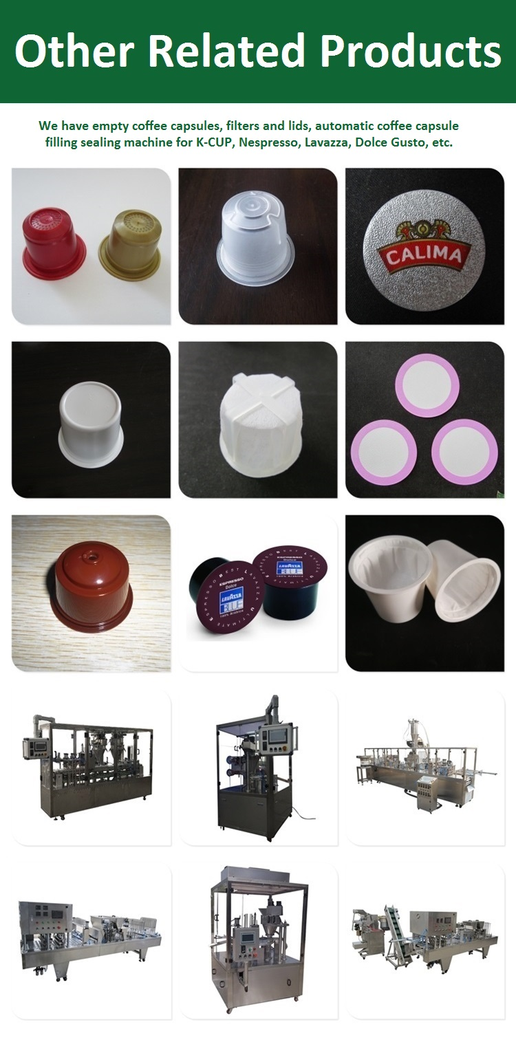 Shanghai vendita diretta della fabbrica di plastica vuota nespresso capsule di caffè