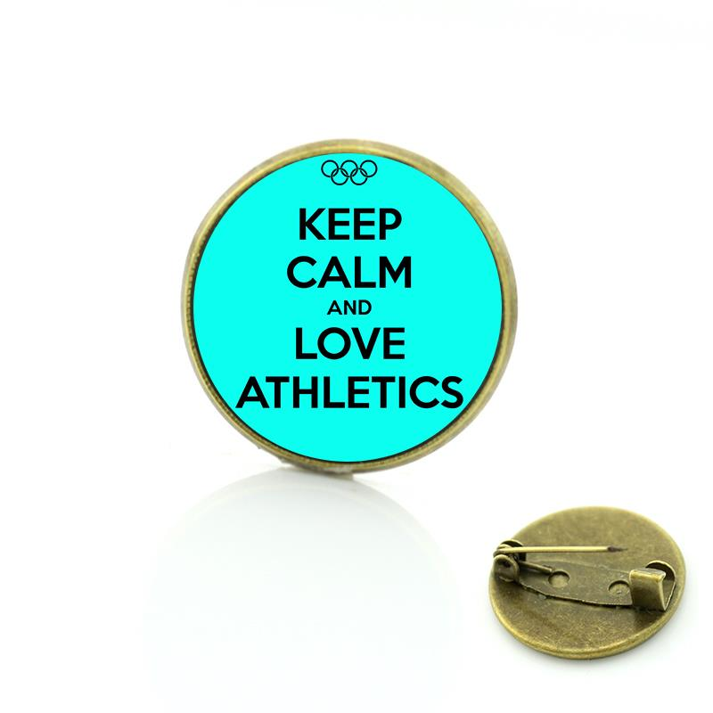 New sales Keep Calm and Love Athletics brooches fashion sports style Track  and Field badge pins for men woemn jewelry SP150 - us119 216c671fc8