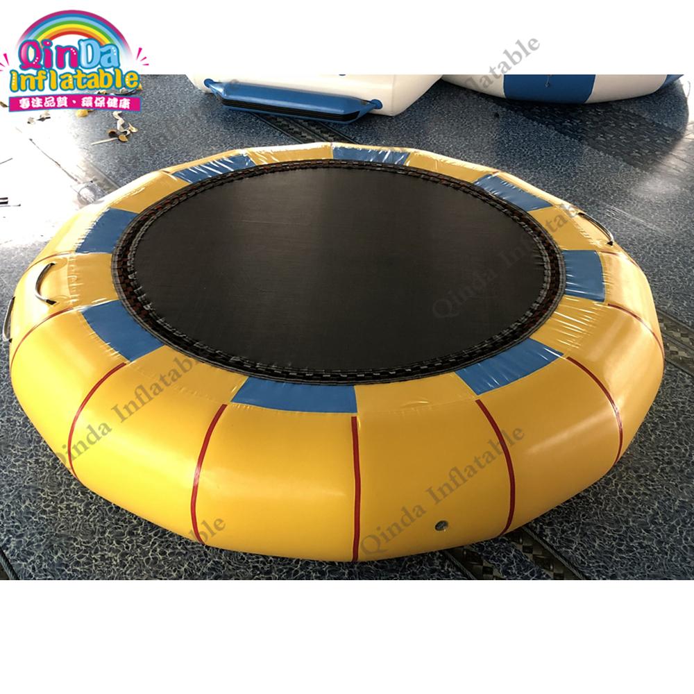 da4a73fe1 4 m de diámetro inflable juego de agua inflable aqua saltar agua trampolín  adulto para venta