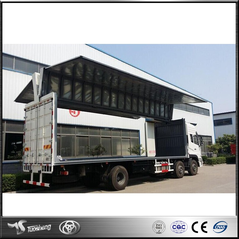 Chinese wing opening box van truck for sale