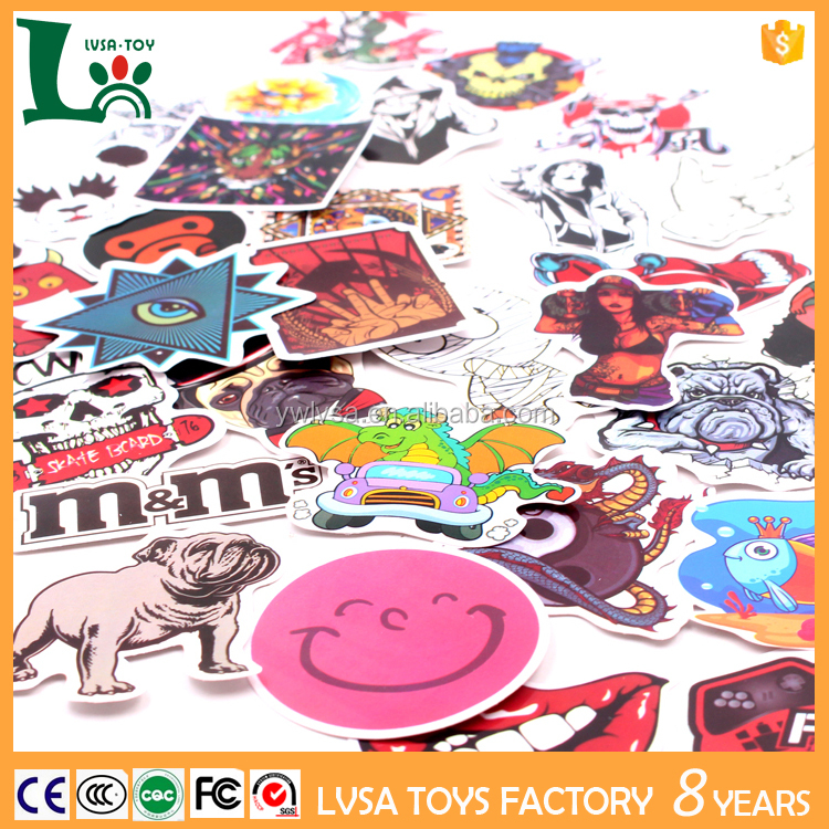 Factory Price Cartoon Stickers Mixed Design Car Decorative Stickers