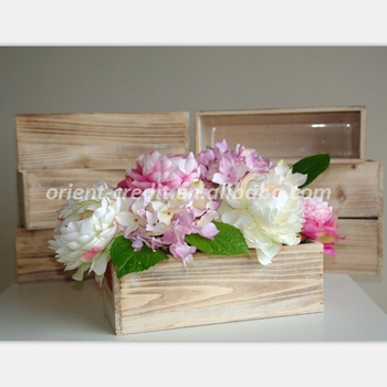 Wedding Table Decor Wood Box Rectangular Boxes Centerpieces Pot