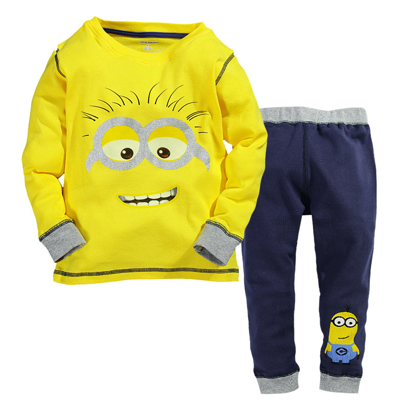 cb20095bf Detail Feedback Questions about 2016 Kids Minions Pyjamas Set Cotton ...