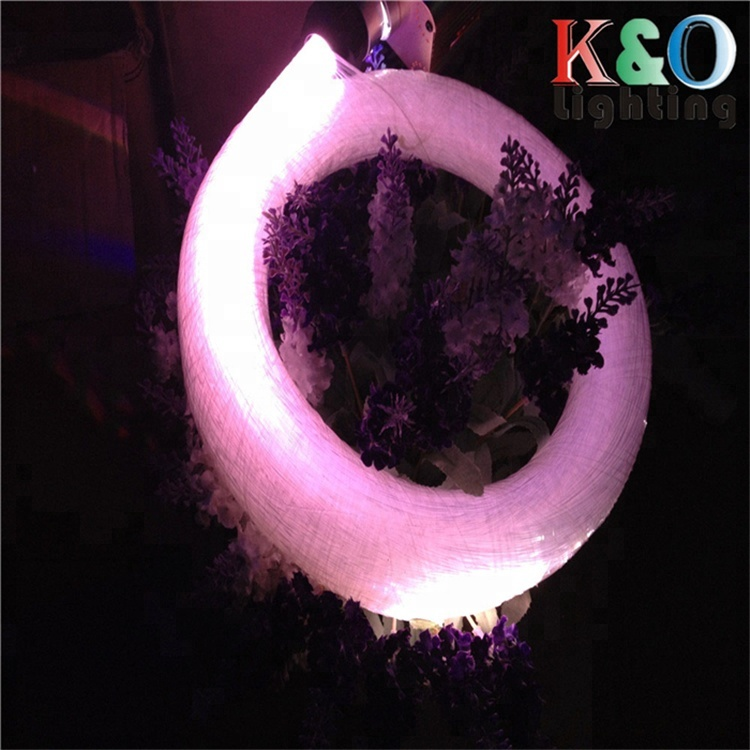 China 10mm waterproof end glow fiber optic cable for outdoor lighting decoration