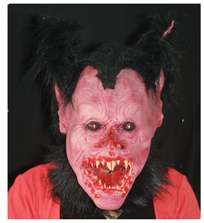 micrkrowen Halloween party cosplay mask vampire terror Painting latex Kamen