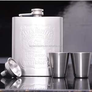 Stainless Steel Jack Daniel's Whisky Flask/Wine Pot/Hip Flask