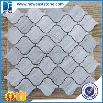 Dfx Mt031 1 Chinesisches Marmor Mosaik Fliesen Im Freien Grau