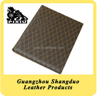 Newness Fashionable Faux Leather Service Directory File Folder