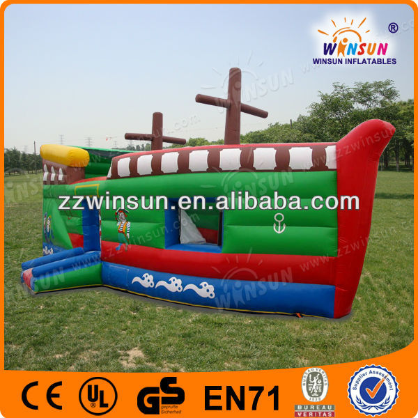 Popular toy quality 0.55mm PVC boat inflatable bouncer