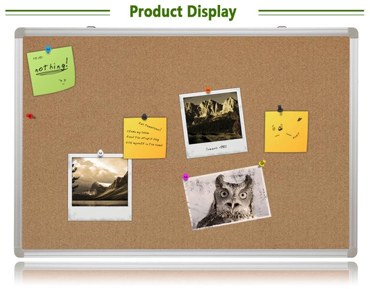 Office School Aluminium Frame Notice Bulletin Board Push Pin Cork ...