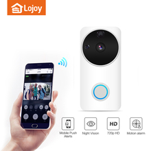 Lojoy smart cctv doorbell camera wireless peephole doorbell
