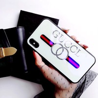 2019 Fashion luxury designer glass phone case for iphone x xr xs max, for iphone case glass glitter