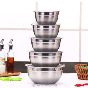 1.2mm thickness 6PCS Stainless Steel 3 5 8 QT Mixing Bowl Set