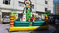 Inflatable mini climbing wall / rock climbing wall price / inflatable sport equipment rock climbing wall for slae
