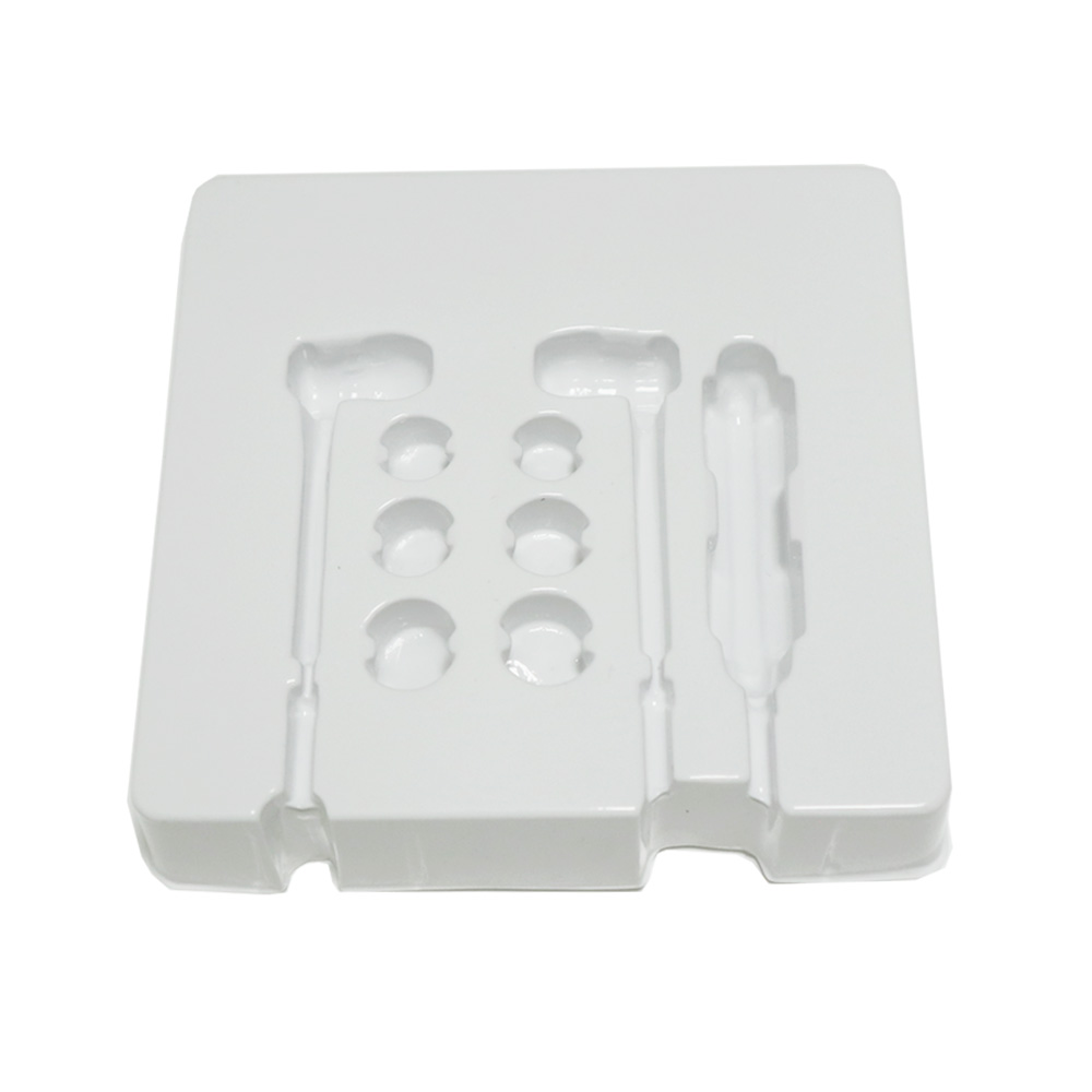 PET Plastic cellphone insert tray earphone blister packaging with plastic box