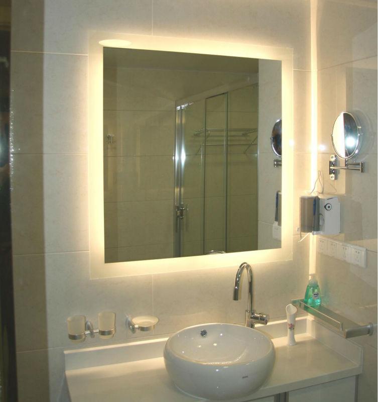 Kualitas atas kamar mandi dibingkai cermin berlampu 16 for Dekor kamar hotel ulang tahun