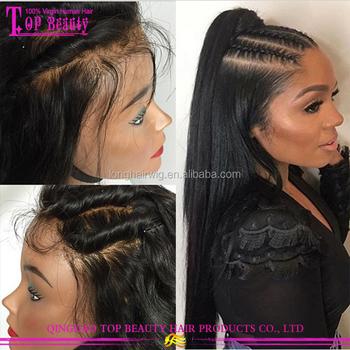 Grade 9a Virgin Hair Brazilian Human Hair Full Lace Wig e01dfd0f3