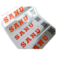 China supplier metallic bar code label QR code paper sticker
