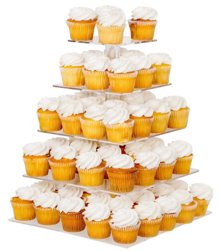 5 Tier Acrylic Cupcake Stand Party Wedding Cake Circular Cakes ...