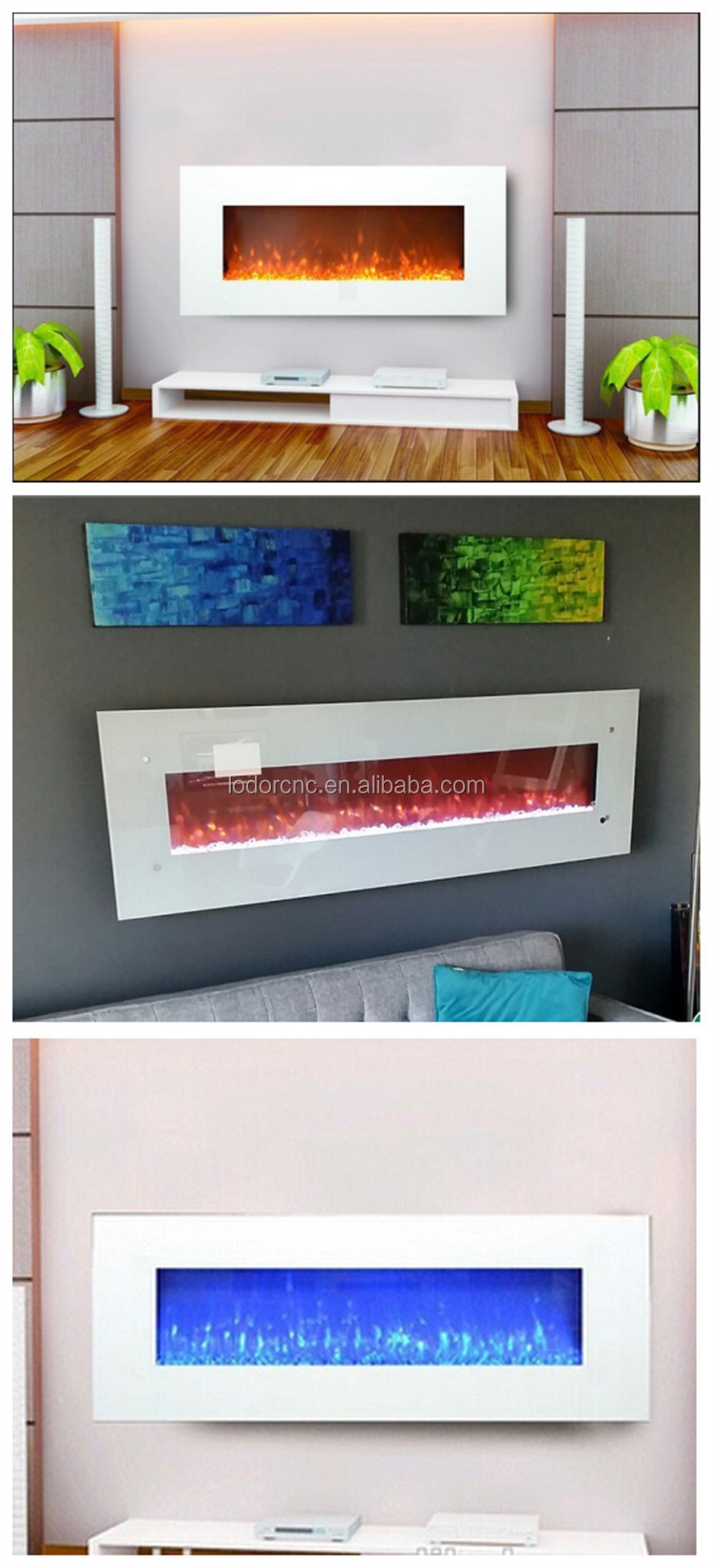 led logs crystal pebbles optional white wall mounted electric