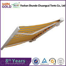 Aluminium Pipe Intensified Retractable Car Roof Awning