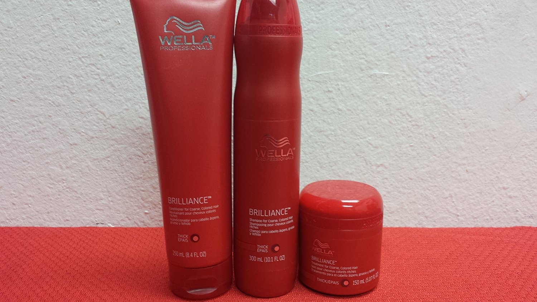 Wella Professionals Brilliance Shampoo (10.1)oz & Conditioner(10.1)oz & Treatment (5.07) Oz for Coarse Colored Hair