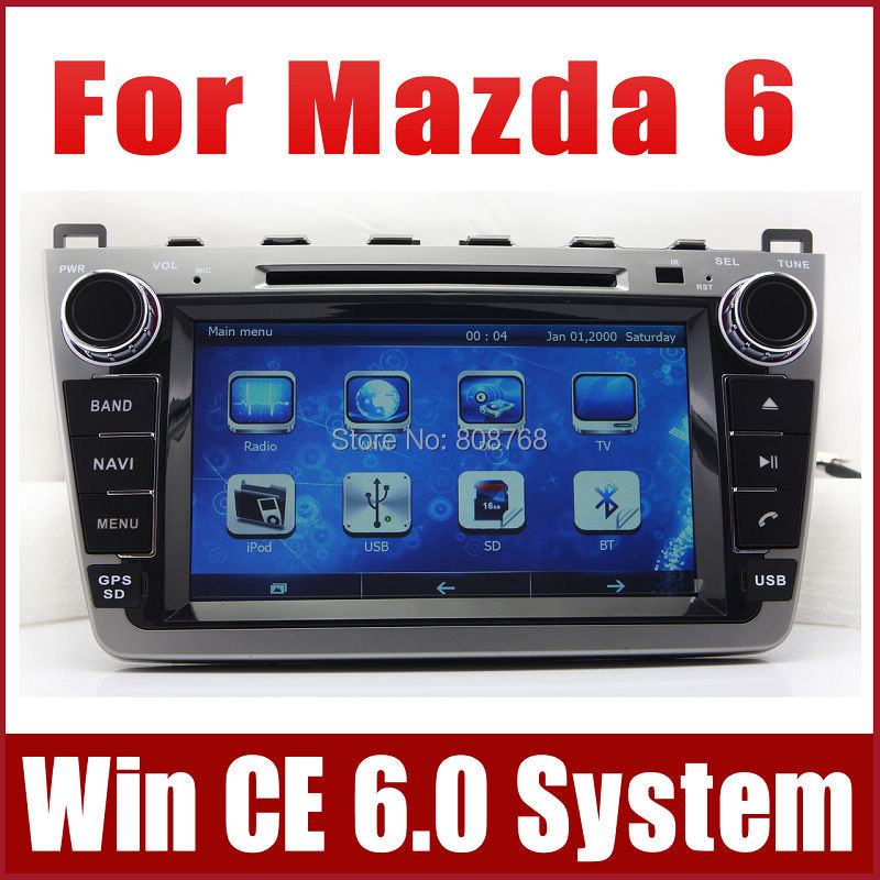 car dvd player for mazda 6 mazda6 ruiyi 2008 2012 with gps. Black Bedroom Furniture Sets. Home Design Ideas