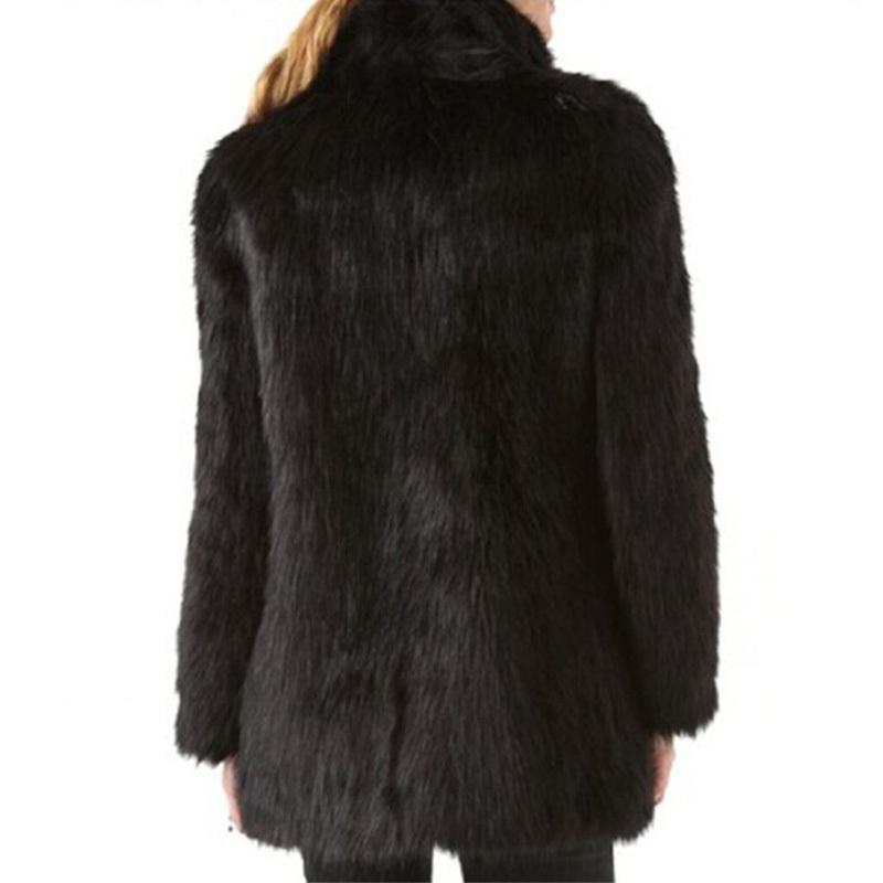 b25c68c4d4b White Black Faux Fur Coat Women Winter Coat Medium-long Rabbit Fox Fur Coats  Plus Size XXXL 4XL 5XL Women s Jacket Big Size