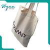 Logos fitted with webbing handle wholesale cheap shopping bag black cotton drawstring bag