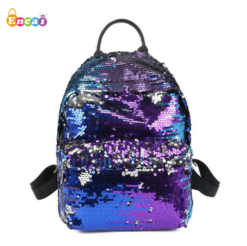 Encai Magic Reversible Mermaid Sequined Street-style Backpacks Women's Fashion Harajuku Ulzzang Travel Backpack