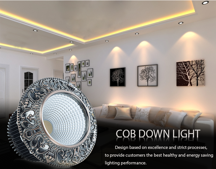 10W glare free decoration casing cob downlight