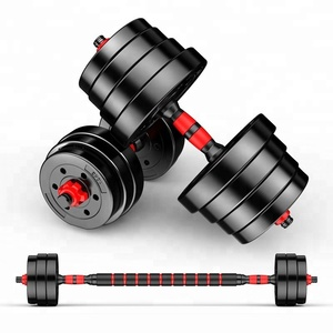 Cast iron adjustable gym fitness combination dumbbell set