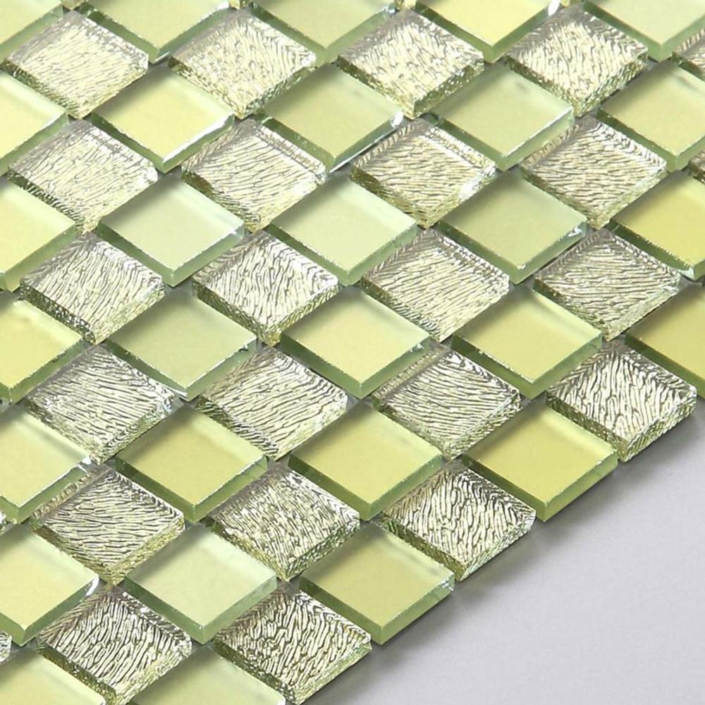 Contemporary Silver Mosaic Wall Decor Composition - Wall Art ...