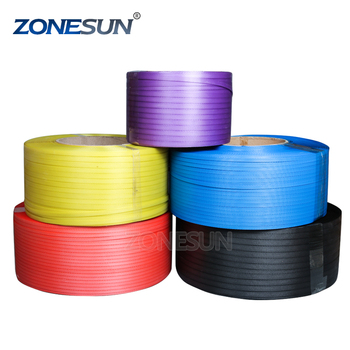 ZONESUN hot sell High Tension Colorful SGS PP Strap / PET Strap / Packaging Strap 12-25mm Customized Size